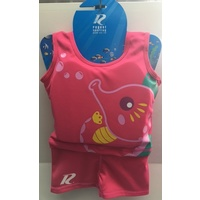 1-Piece Swim Trainer - Sea Horse Print